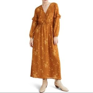 Madewell Ruffle Floral Maxi Dress - Size 4